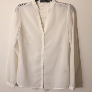 The Limited Ivory Blouse - Size Small